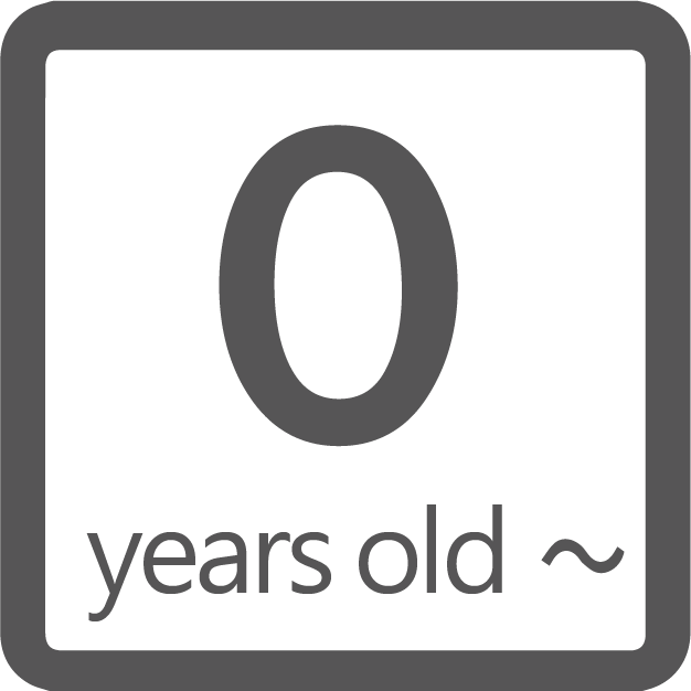 0 year old or older